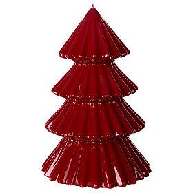 Vela navideña árbol Tokyo burdeos 23 cm s3