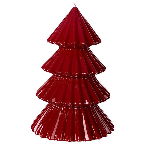 Vela navideña árbol Tokyo burdeos 23 cm 1