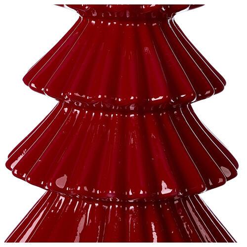Vela navideña árbol Tokyo burdeos 23 cm 2