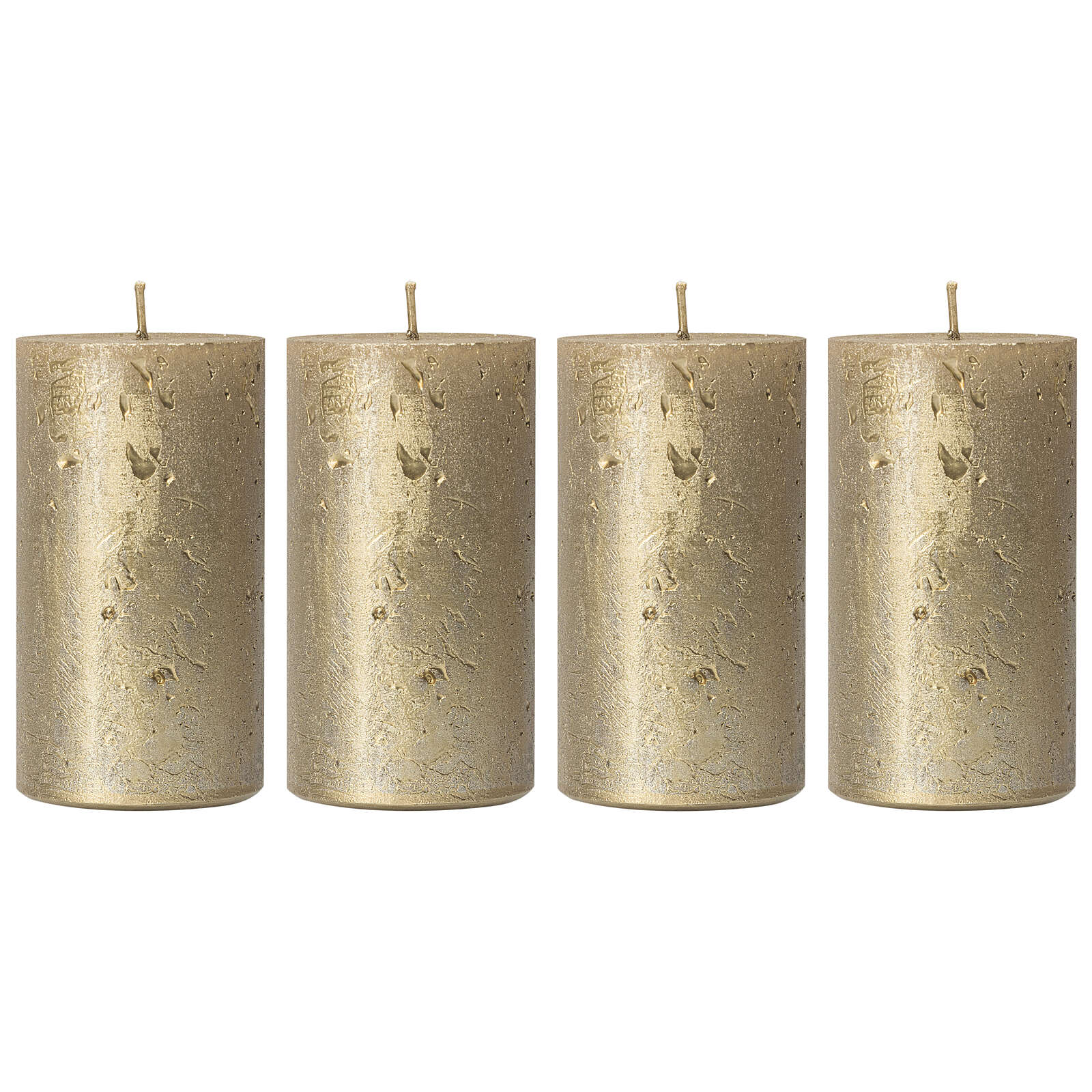 Christmas candles, old gold, set of 4, 110x60 mm 3