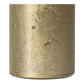 Christmas candles, old gold, set of 4, 110x60 mm s3