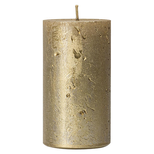 Christmas candles, old gold, set of 4, 110x60 mm 2
