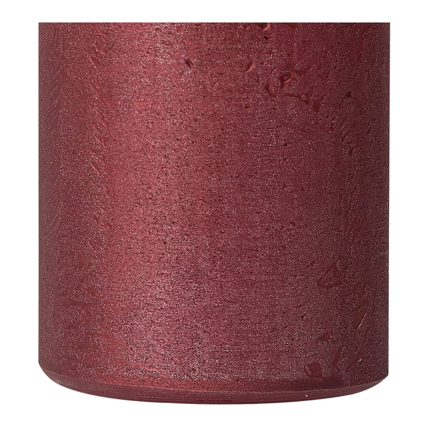 Red ruby Christmas candles, set of 2, 170x70 mm 3