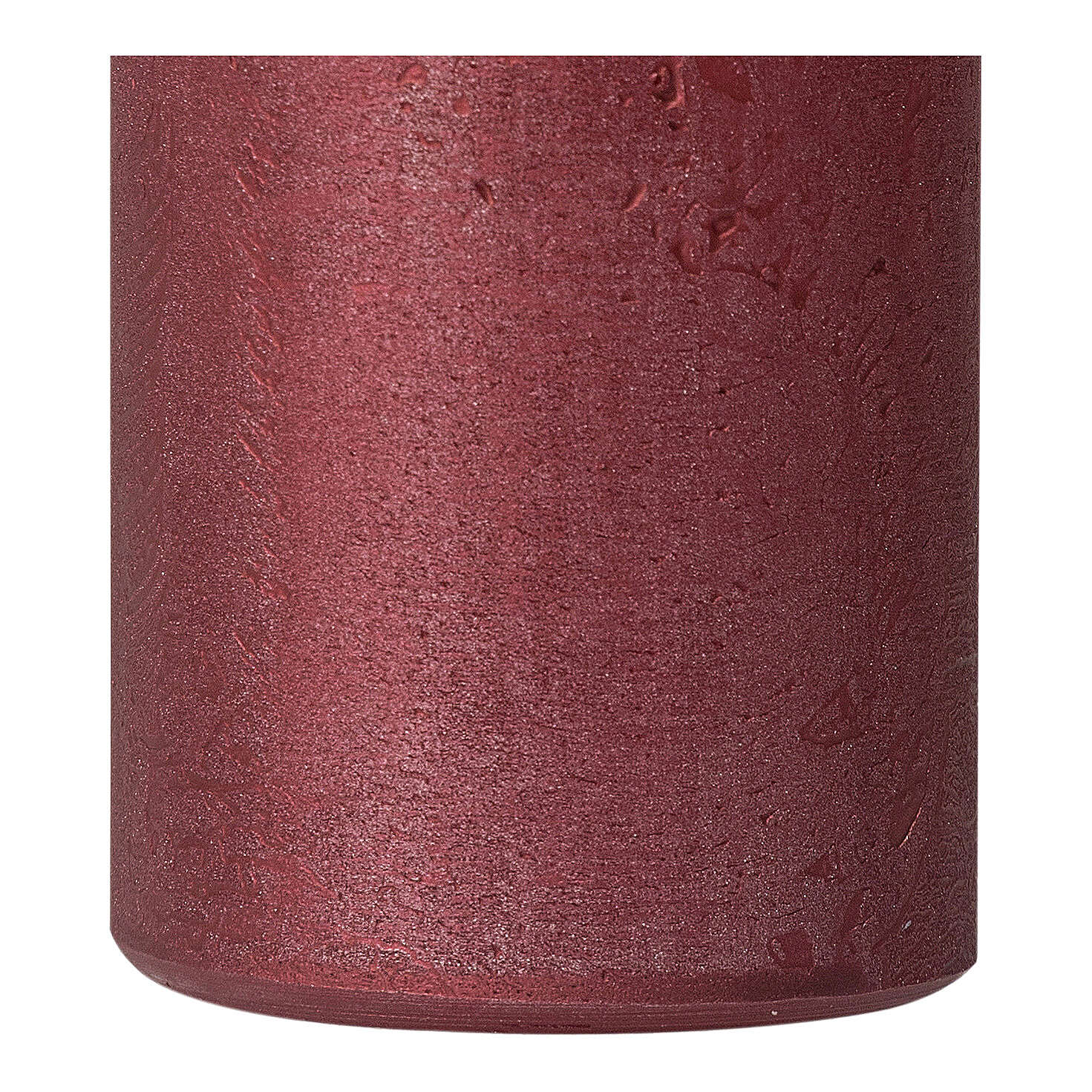 Pearly red Christmas candles, set of 4, 110x60 mm 3