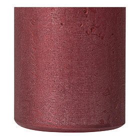 Pearly red Christmas candles, set of 4, 110x60 mm s3