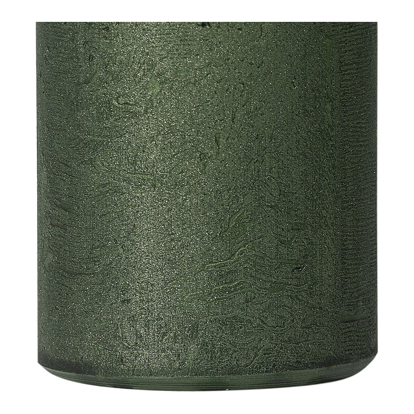 Pearly green Christmas candles, set of 2, 170x70 mm 3