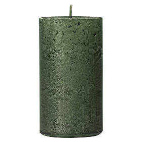Pearly green Christmas candles, set of 2, 170x70 mm s2
