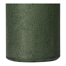 Pearly green Christmas candles, set of 2, 170x70 mm s3
