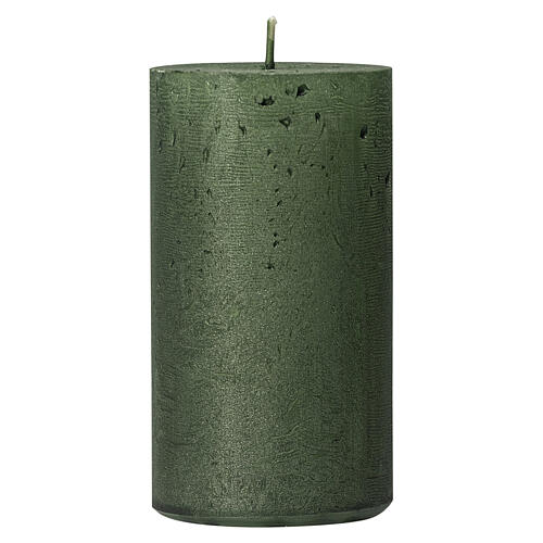 Pearly green Christmas candles, set of 2, 170x70 mm 2