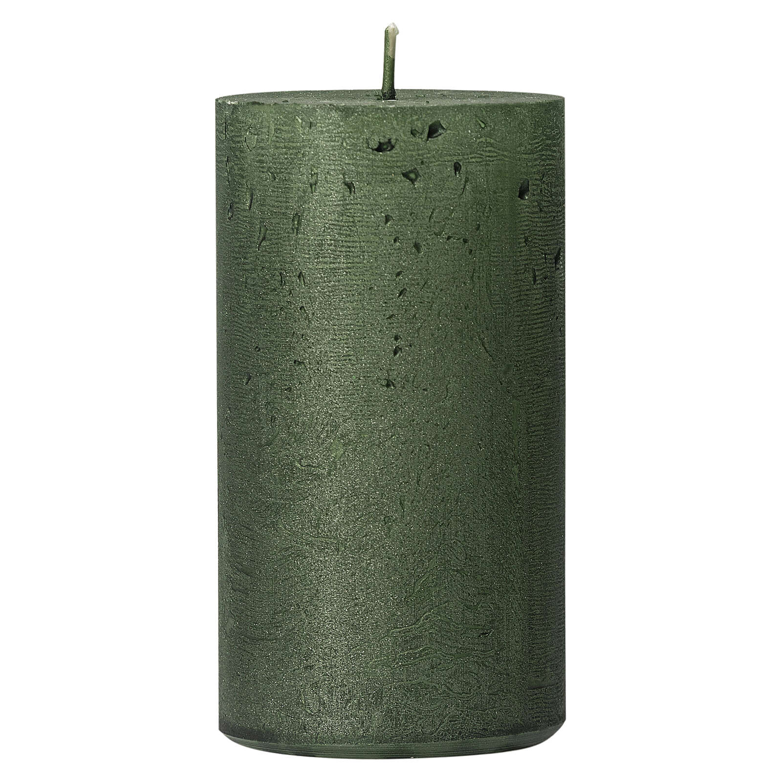 Christmas candles, translucent green, set of 4, 110x60 mm 3
