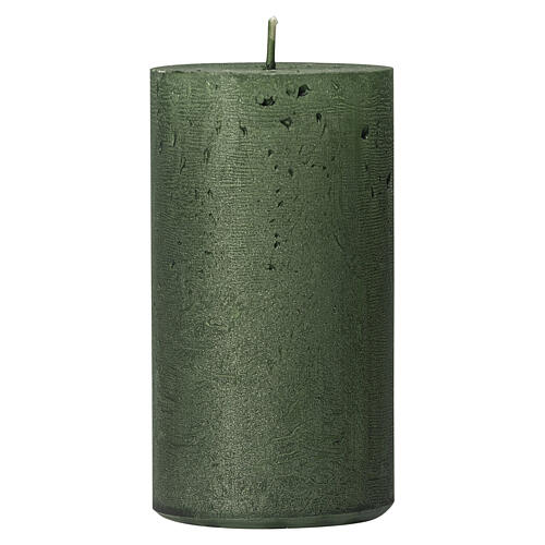 Christmas candles, translucent green, set of 4, 110x60 mm 2
