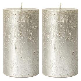 Christmas candles, titanium grey, set of 2, 170x70 mm s1