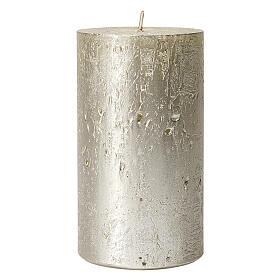 Christmas candles, titanium grey, set of 2, 170x70 mm s2