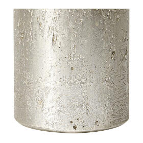 Christmas candles, pearly titanium grey, set of 4, 110x60 mm s3