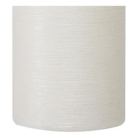 Christmas candles, satin white, set of 4, 150x60 mm s3