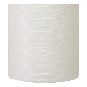 Christmas candles, satin white, set of 4, 130x70 mm s3