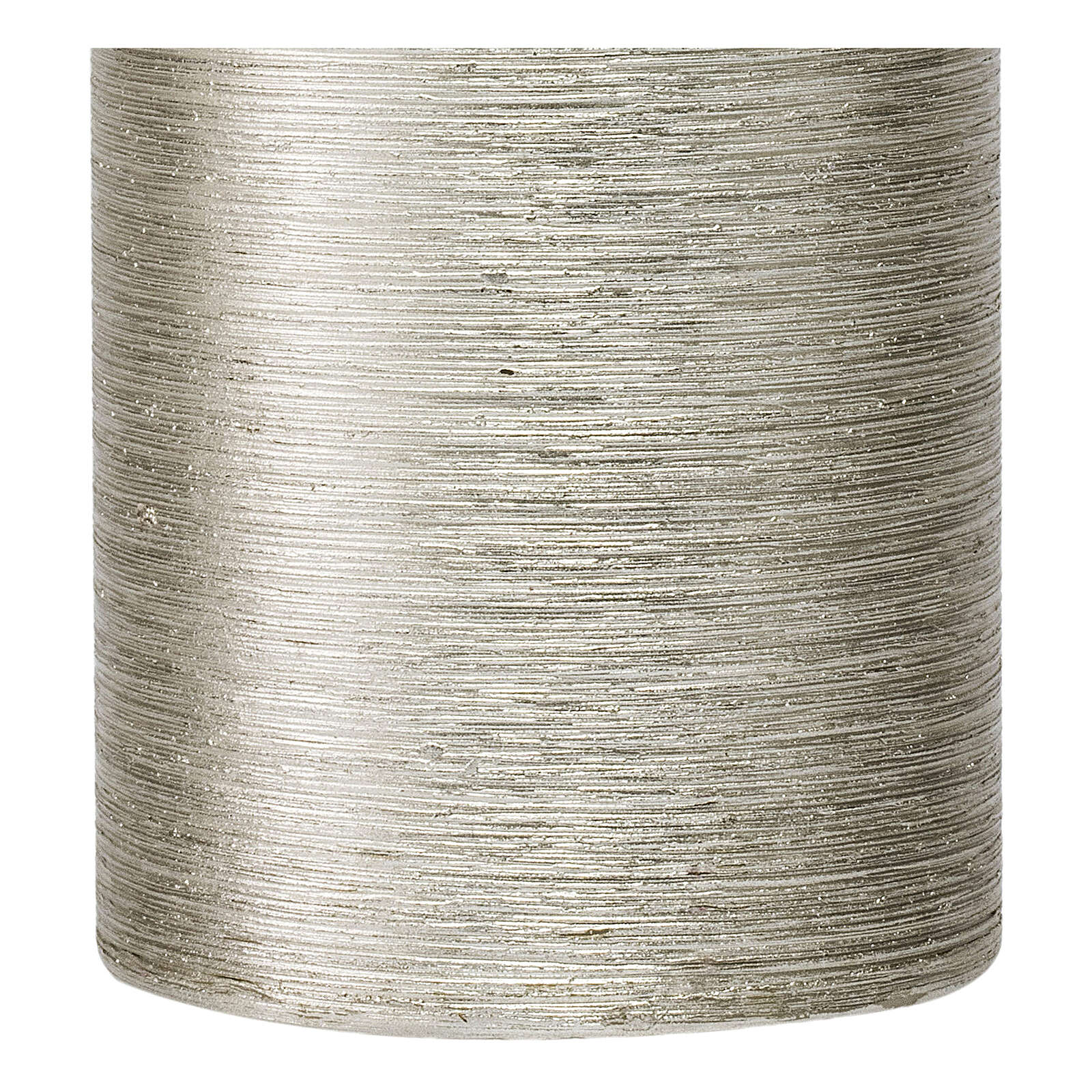 Christmas candles, satin silver, set of 4, 130x70 mm 3