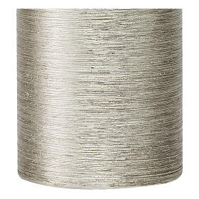 Christmas candles, satin silver, set of 4, 130x70 mm s3