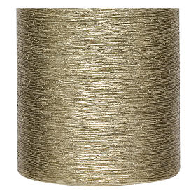 Christmas candles, satin gold, set of 4, 150x60 mm s3