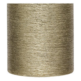 Christmas candles, satin gold, set of 4, 130x70 mm s3