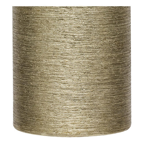 Christmas candles, satin gold, set of 4, 130x70 mm 3