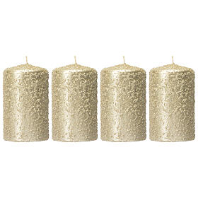 Christmas candles, set of 4, light gold, 150x70 mm s1