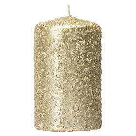 Christmas candles, set of 4, light gold, 150x70 mm s2