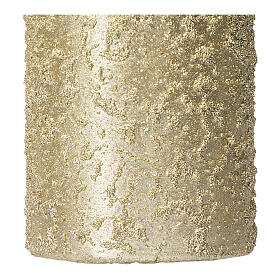 Christmas candles, set of 4, light gold, 150x70 mm s3
