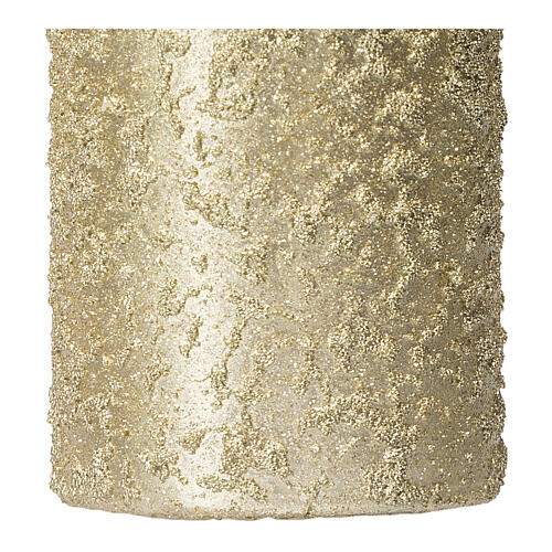 Christmas candles, set of 4, light gold, 150x70 mm 3