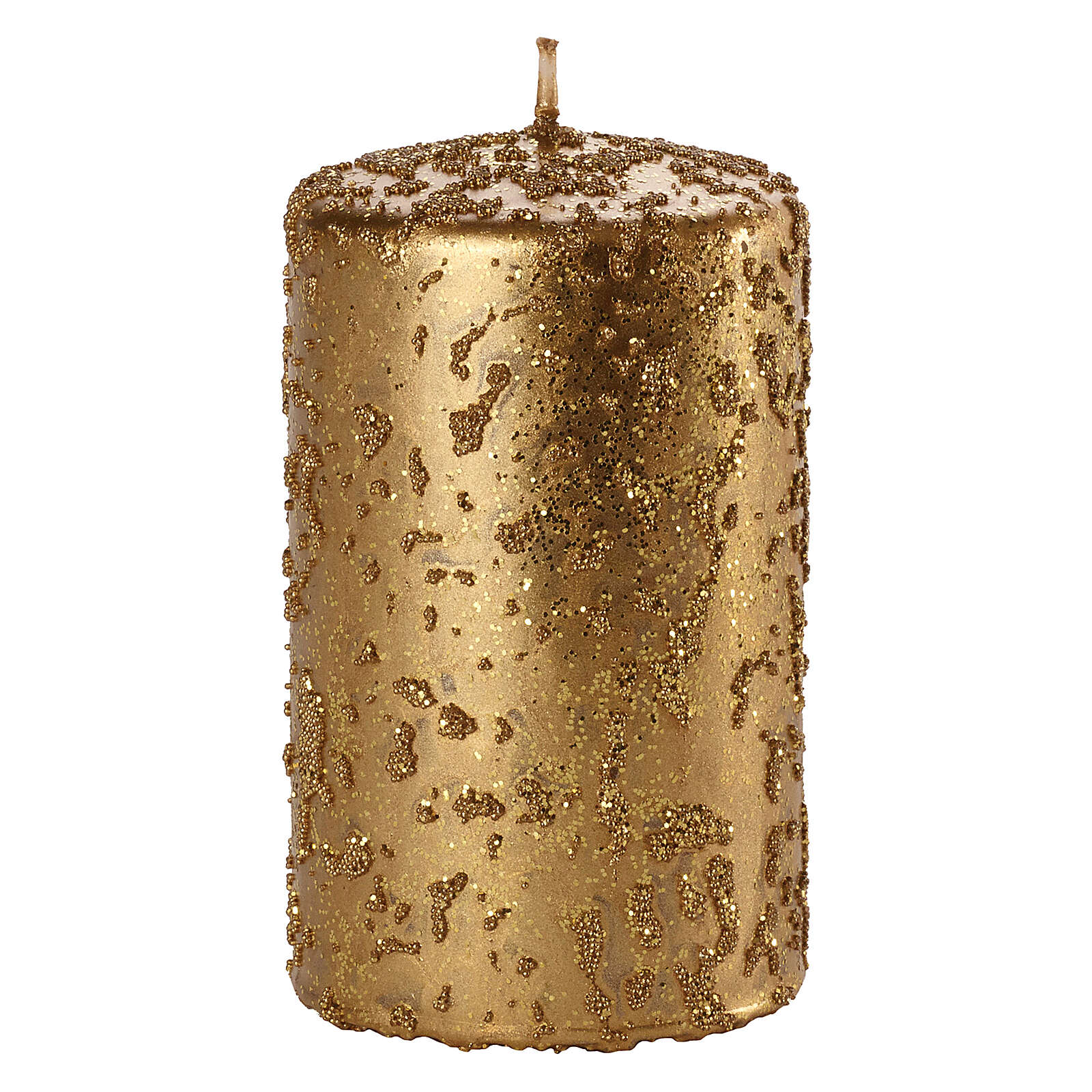 Christmas candles, old gold with glitter, set of 4, 150x70 mm 3