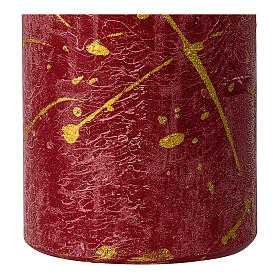 Red Christmas candles, golden drops, set of 4, 110x60 mm s3