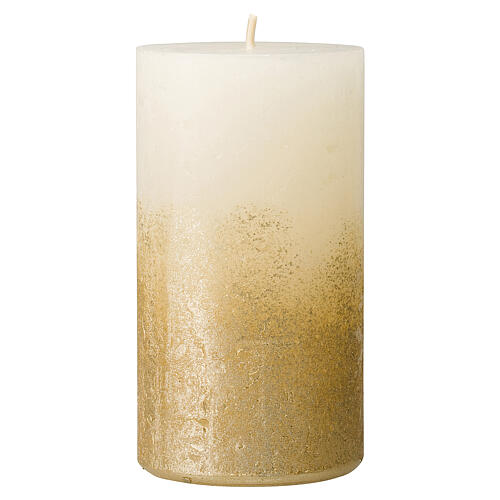 Christmas candles, white and gold, 4 pieces, 140x70 mm 2