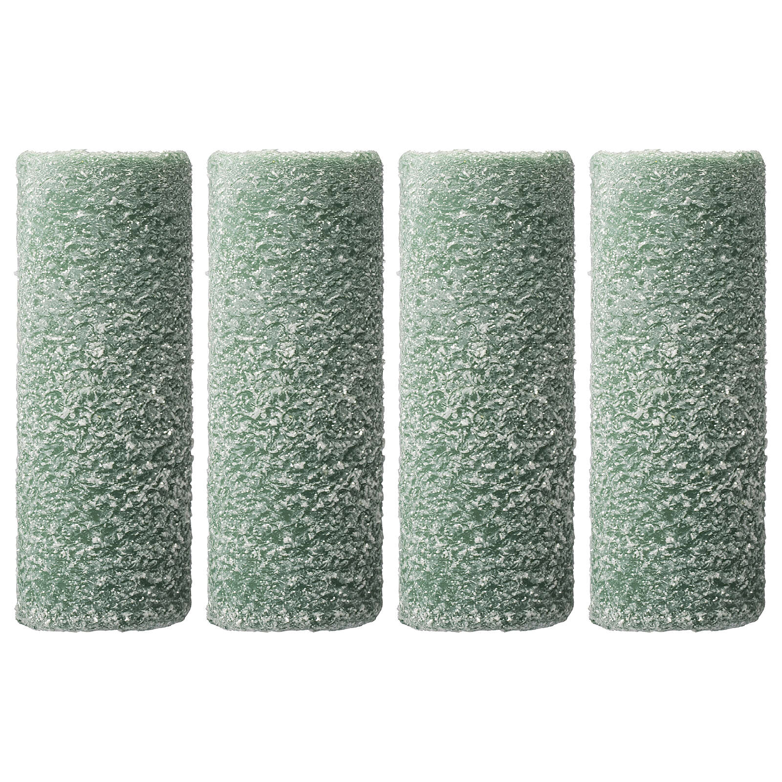 Green candles, snow flakes, Christmas set of 4, 150x60 mm 3