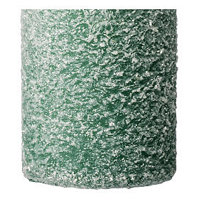 Green candles, snow flakes, Christmas set of 4, 150x60 mm s3