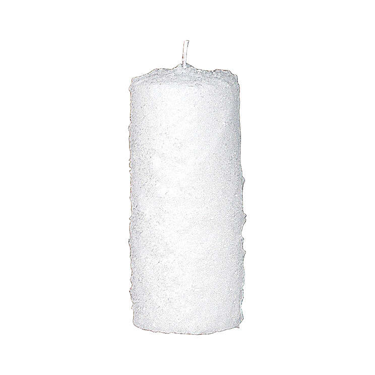 Christmas candles with snow effect, set of 4, 150x60 mm 3