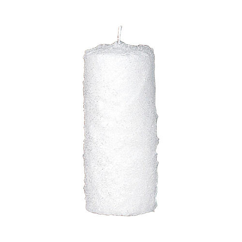 Christmas candles with snow effect, set of 4, 150x60 mm 2