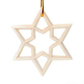 Decoro natalizio stella in legno s1