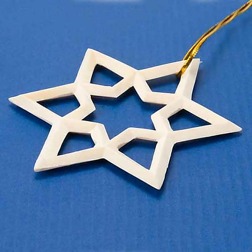 Decoro natalizio stella in legno 2