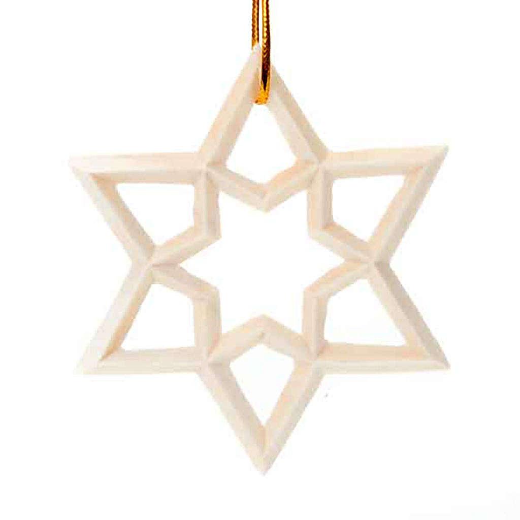 Enfeite de Natal estrela em madeira 4