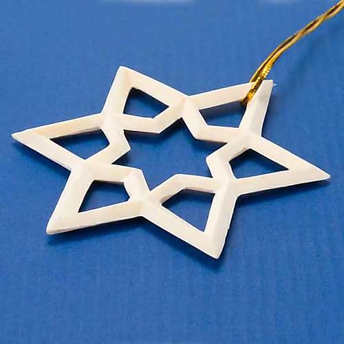 Enfeite de Natal estrela em madeira 2