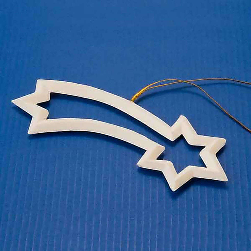 Adornos navideños estrella cometa talladas 4