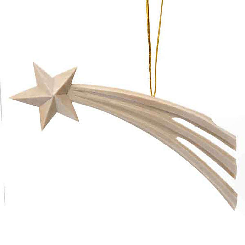 Addobbo Natale Stella cometa in legno 4