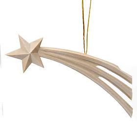Addobbo Natale Stella cometa in legno s1