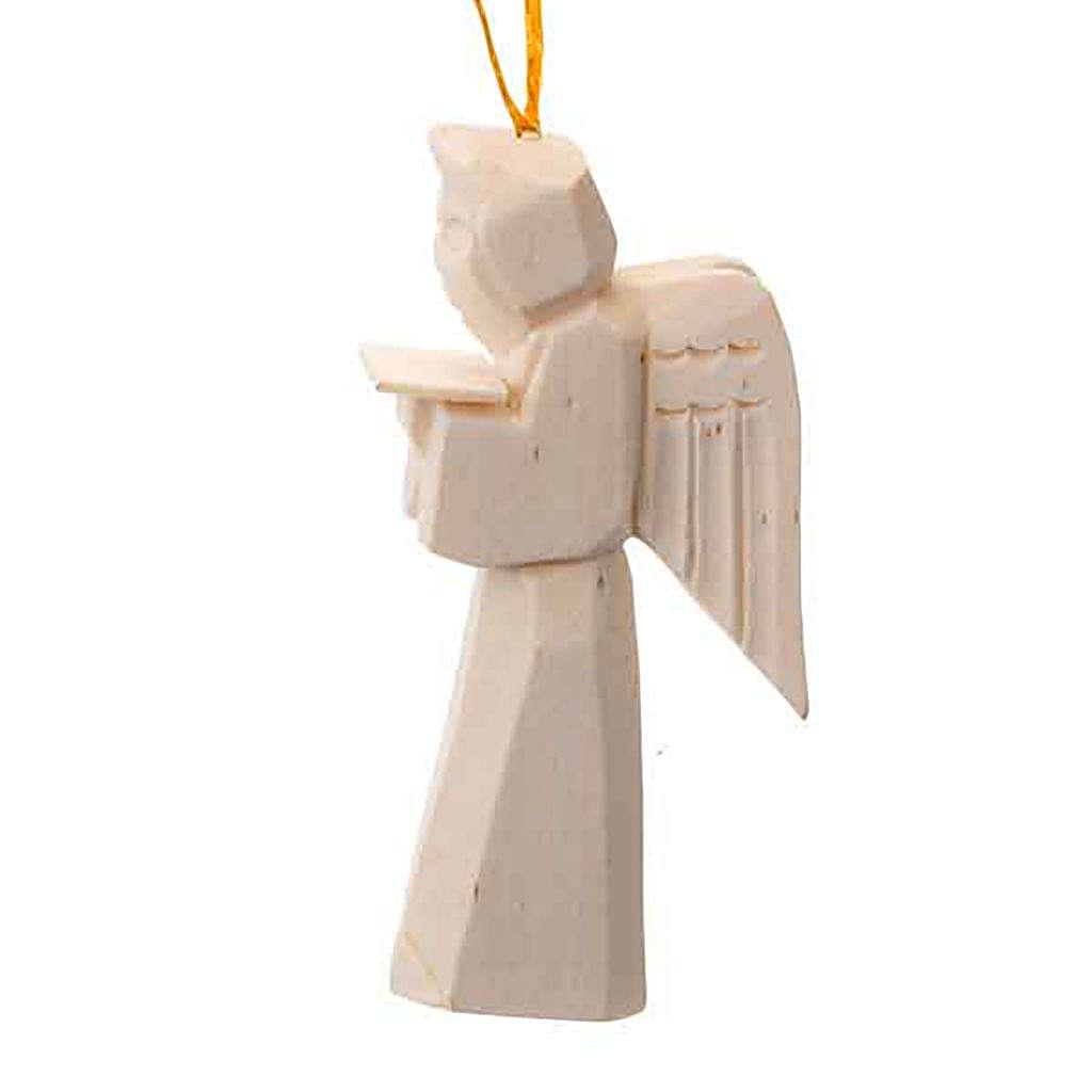 Adorno ángel en madera para colgar 4