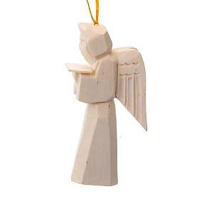 Adorno ángel en madera para colgar s1