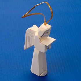 Adorno ángel en madera para colgar s2