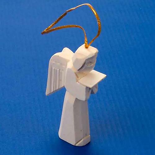 Adorno ángel en madera para colgar 2