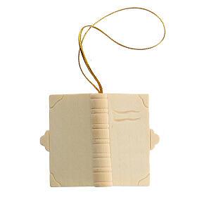 Addobbo Natale libro in legno da appendere s1