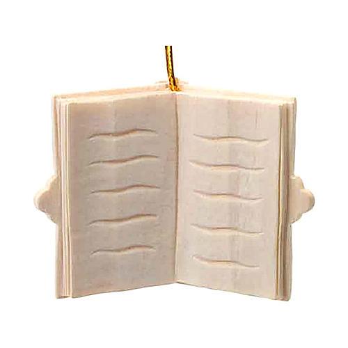 Adorno Natal livro em madeira para pendurar 1