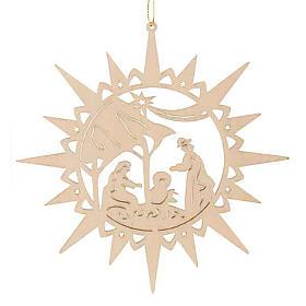 Adornos de navidad estrella de madera s1